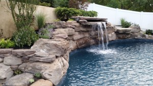 pool wall fountain landscaping orangeburg